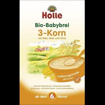 HOLLE Kaszka 3 ziarna ryżowo-kukurydziano-jaglana EKO - po 6 miesiącu 250g