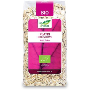 Płatki orkiszowe BIO 300 g - Bio Planet. To produkt z pełnego przemiału.