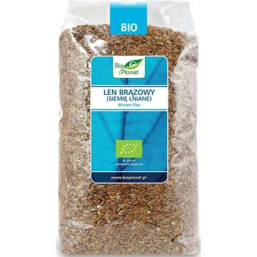 Len brązowy (siemię lniane) Bio - Bio Planet. Skarb w twojej kuchni i w łazience.