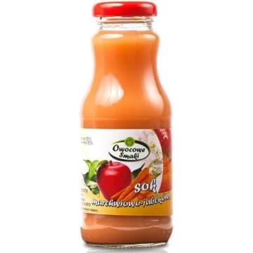 Sok marchwiowo-jabłkowy BIO 250ml OWOCOWE SMAKI. Codzienna porcja witamin.