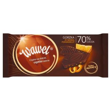 Czekolada gorzka Dark 70% ze skórką pomarańczy 100g - Wawel