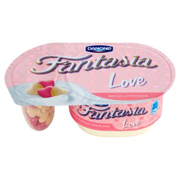 DANONE Fantasia Love Jogurt kremowy ze zbożowymi serduszkami z białą czekoladą 98g
