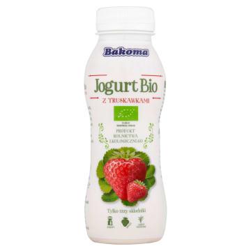 BAKOMA Jogurt BIO truskawka pitny 230g