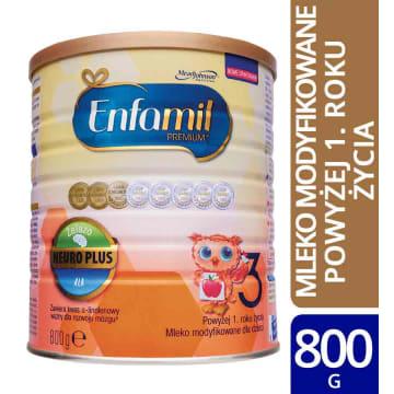 ENFAMIL Premium 3 Mleko modyfikowane dla dzieci powyżej 1. roku życia 800g