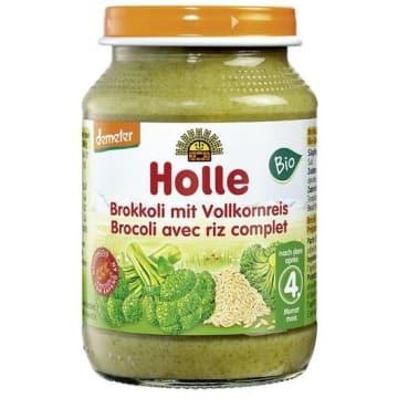 HOLLE Obiadek brokuły z ryżem pełnoziarnistym - po 4 miesiącu BIO 190g