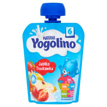 NESTLÉ Yogolino Deserek owocowo-mleczny jabłko truskawka po 6 miesiącu 90g