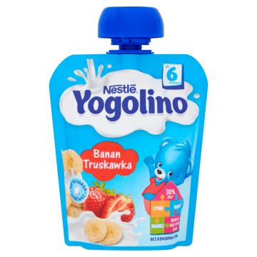 NESTLÉ Yogolino Deserek owocowo-mleczny banan truskawka po 6 miesiącu 90g