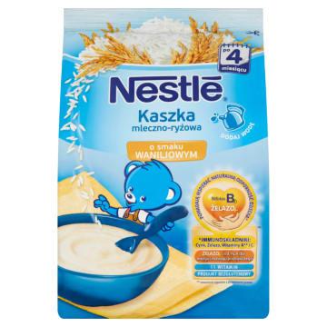 NESTLÉ Kaszka mleczno-ryżowa o smaku waniliowym po 4 miesiącu 230g