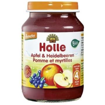 HOLLE Deserek jabłko z borówką - po 4 miesiącu BIO 190g