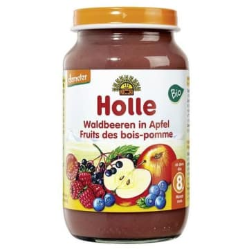 HOLLE Deserek jabłko z owocami leśnymi - po 8 miesiącu BIO 220g