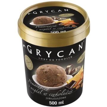 GRYCAN Lody pomarańczowe z migdałami w czekoladzie 500ml