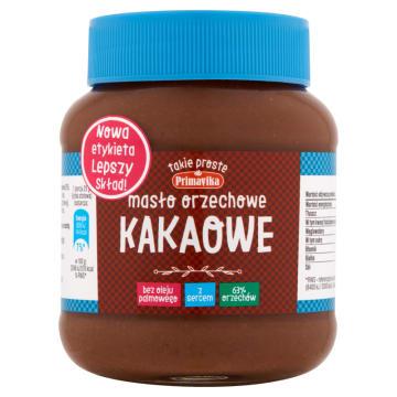 PRIMAVIKA Masło orzechowe kakaowe 350g
