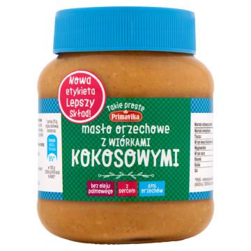 PRIMAVIKA Masło orzechowe z wiórkami kokosowymi 350g