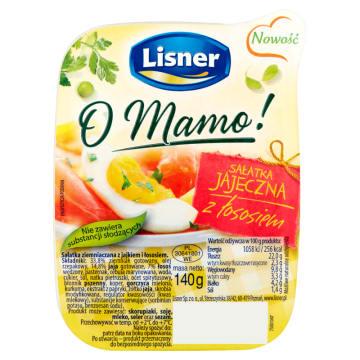 LISNER Sałatka jajeczna z łososiem 140g