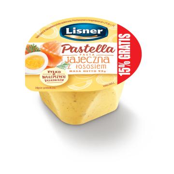 LISNER Pasta jajeczna z łososiem 80g