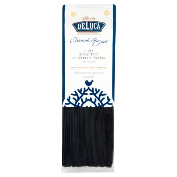 DE LUCA Makaron czarny spaghetti z pszenicy durum 500g