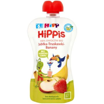 HIPP HiPPiS Jabłka-Truskawki-Banany Mus owocowy po 6. miesiącu BIO 100g
