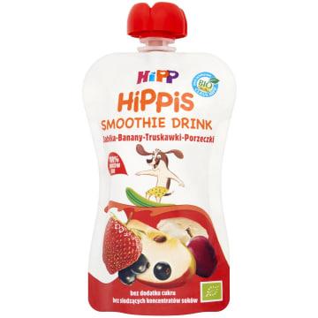 HIPP HiPPiS Jabłka-Banany-Truskawki-Porzeczki Mus z owoców i soków po 1. rok 1szt