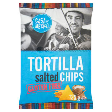 CASA DE MEXICO Tortilla chips Salated bezglutenowe 125g