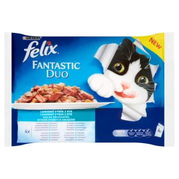PURINA FELIX Fantastic Karma dla kotów - Wybór rybnych smaków 4x100g 400g
