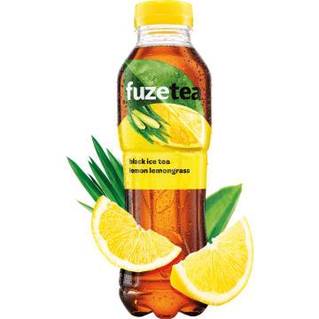 FUZETEA Napój o smaku cytr. z ekstraktem z czarnej herbaty i trawy cytr. 500ml