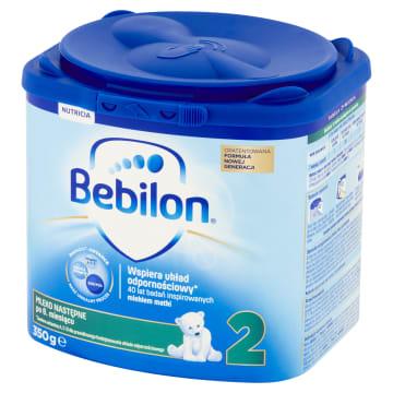 Mleko następne z Pronutra+ - Bebilon 2 zawiera korzystną dla jelit kompozycję prebiotyków.