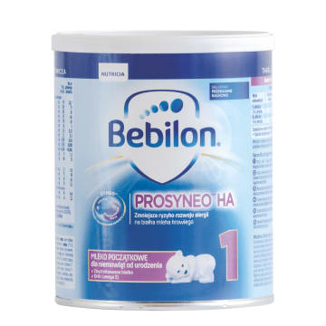 Hipoalergiczne mleko - Bebilon. Dla niemowląt od urodzenia aż do ukończenia 6. miesiąca życia.