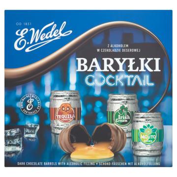 Bombonierka Baryłki Koktajlowe – Wedel. Czekoladki z nadzieniami o smaku najpopularniejszych drinków