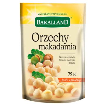 Orzechy macademia-Bakalland. Produkt o wysokiej zawartości tłuszczu do 76%.