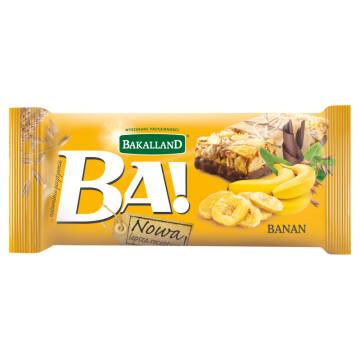 Baton zbożowy z bananem i czekoladą - Bakalland Ba!