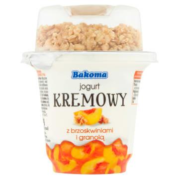 BAKOMA Jogurt kremowy z brzoskwiniami i granolą 300g
