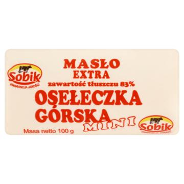 Masło Extra Osełeczka Górska Mini - Sobik