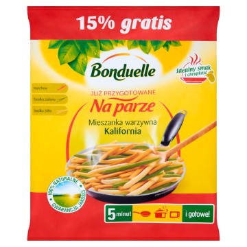Mieszanka warzywna california mix – Bonduelle. Doskonała porcja warzyw do przygotowania w 5 minut.