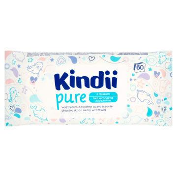 KINDII Pure Sensitive Chusteczki dla niemowląt i dzieci 60 szt. 1szt