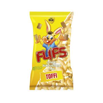 FLIPS Chrupki kukurydziane o smaku toffi 70g