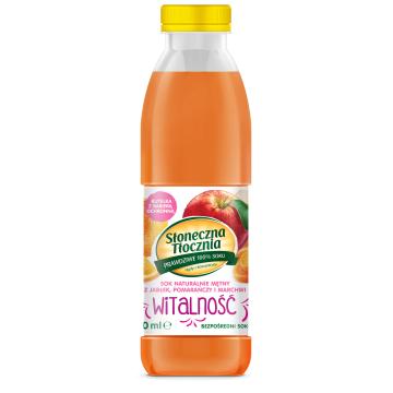 SŁONECZNA TŁOCZNIA Witalność Sok z jabłek, pomarańczy i marchwi 500ml
