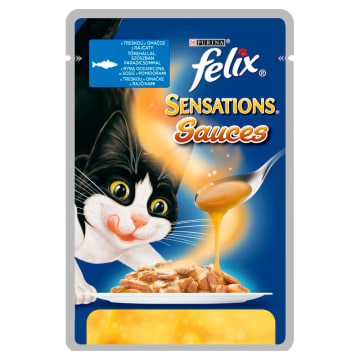 PURINA FELIX Sensations Sauces Karma dla kotów z rybą w sosie z pomidorami 100g