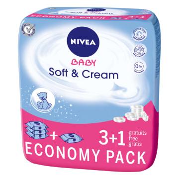Chusteczki Soft&Cream- Nivea Baby. Nasączone kremem pielęgnacyjnym i olejkami.