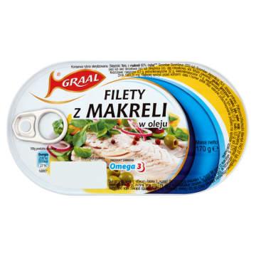 GRAAL Filety z makreli w oleju 170g