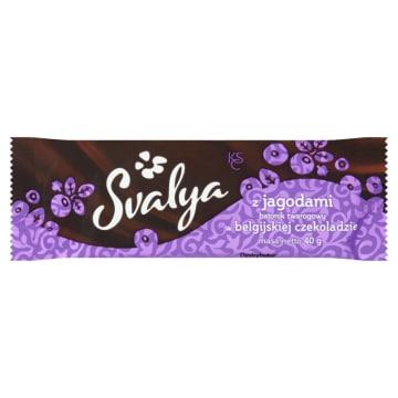 SVALYA Baton twarogowy Belgijska czekolada z jagodami 40g