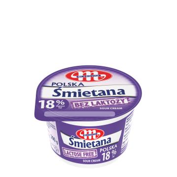 MLEKOVITA Bez laktozy Śmietana 18% 200g