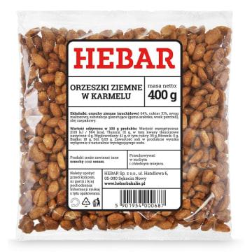 Orzeszki arachidowe w karmelu – Hebar to wspaniała przekąska do chrupania.