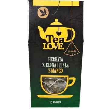 TEA LOVE Herbata zielona & biała z mango - piramidki 15 szt. 30g