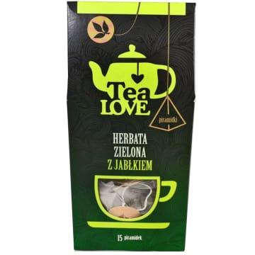 TEA LOVE Herbata zielona z jabłkiem - piramidki 15 szt. 30g