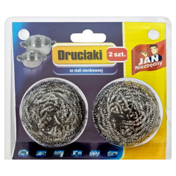 Druciak ze stali nierdzewnej – Jan Niezbędny to doskonały pomocnik przy zmywaniu.