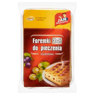 Jan Niezbędny – foremki aluminiowe do pieczenia sernika. Można stosować zamiast tradycyjnych blach.