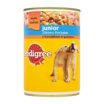 Pokarm dla psów z kurczakiem w galarecie – Pedigree przeznaczony specjalnie dla szczeniaków.