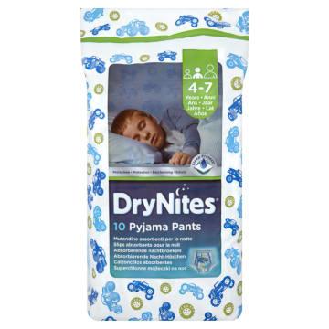 HUGGIES DryNites Jednorazowe majteczki na noc dla chłopców 4-7 lat 10 szt. 1szt