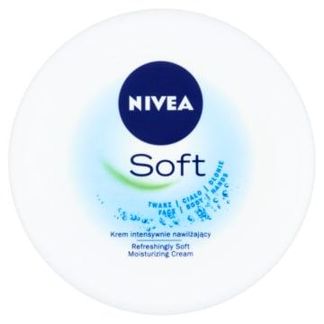 Krem intensywnie nawilżający - Nivea Soft. Codzienna ochrona wrażliwej skóry.