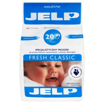 Proszek do prania tkanin białych – Jelp. Nadaje się dla ubrań należących do dzieci i alergików.
